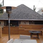 Wood Sun Deck Furnished With Heat Lamp | Mountain View Sun Decks