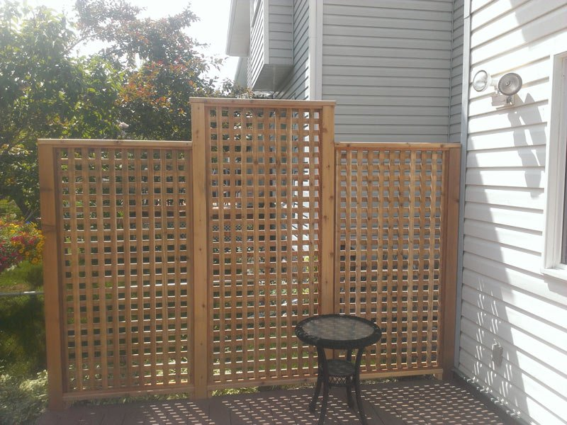 Wooden Lattice | Mountain View Sun Decks