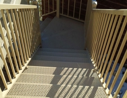 Metal Stairs With Grip Holes | Mountain View Sun Decks