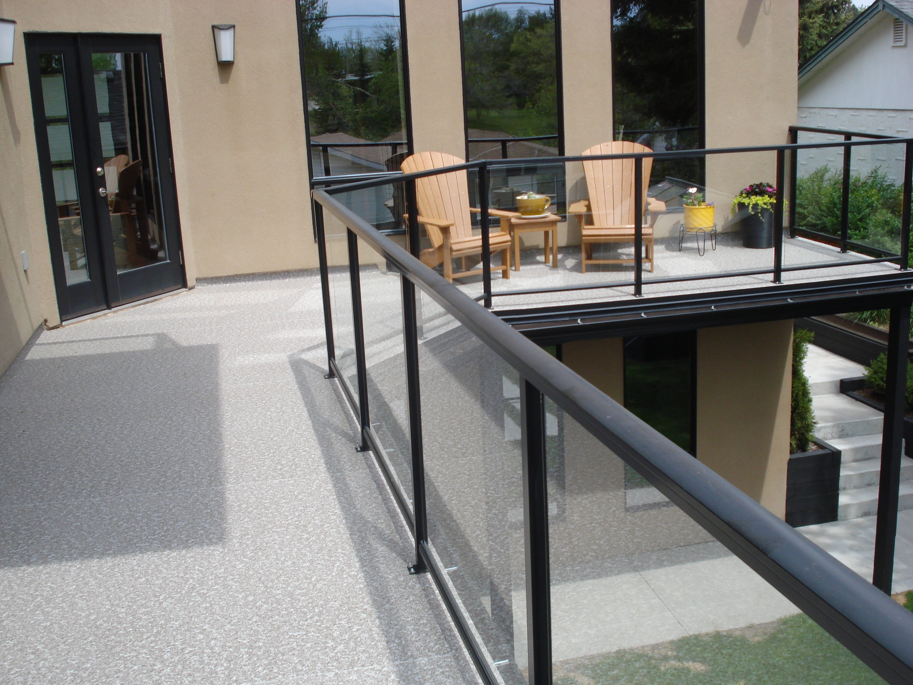 Large Grey And White Sun Deck | Mountain View Sun Decks