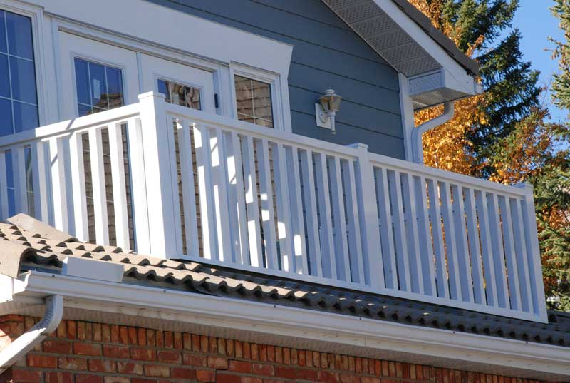 White Aluminum Custon Railings | Mountain View Sun Decks