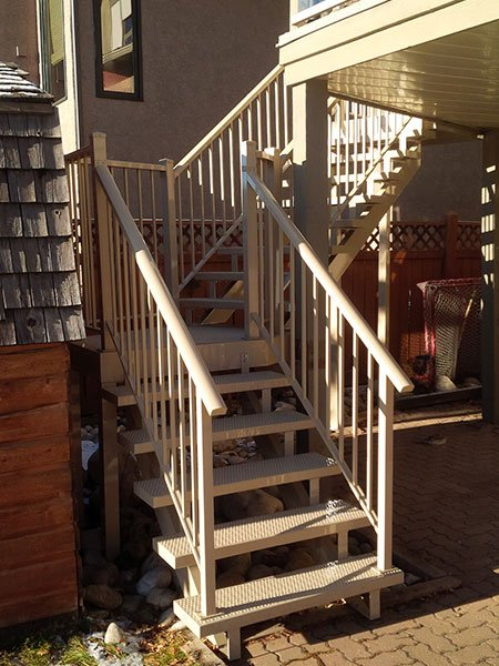 Beige Stairs | Mountain View Sun Decks