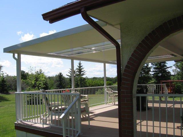 Deck Canopies White With Vinyl | Mountain View Sun Decks