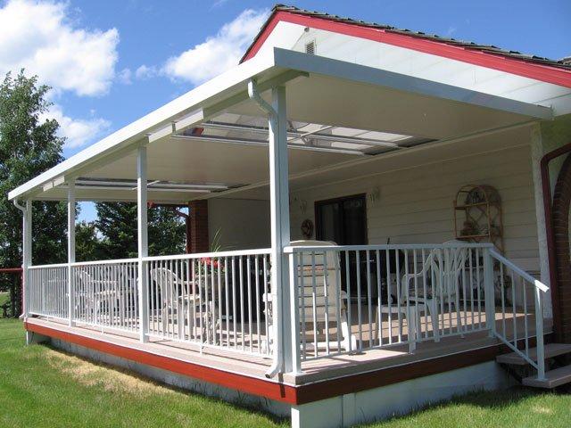 Deck Canopies White | Mountain View Sun Decks