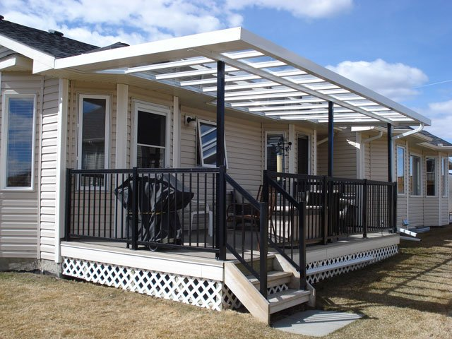 Deck Canopies White | Mountain View Sun Decks
