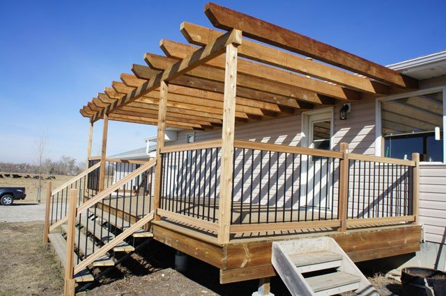 Deck Canopies Wooden | Mountain View Sun Decks