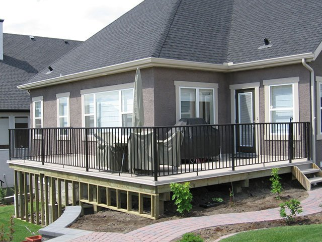 Deck Black Railing Aluminum System | Mountain View Sun Decks