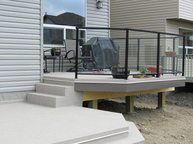 Deck Vinyl With Stair System   Mountain View Sun Decks