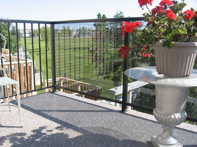 Vinyl Deck Second Floor Glass Railing | Mountain View Sun Decks