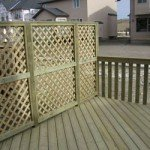 Cross Section Wooden Fence With Wooden Deck | Mountain View Sun Decks