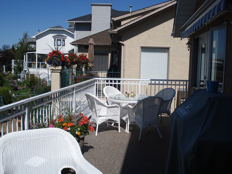 Exterior Second Floor Sun Deck With Custom White Aluminum Railing | Mountain View Sun Decks
