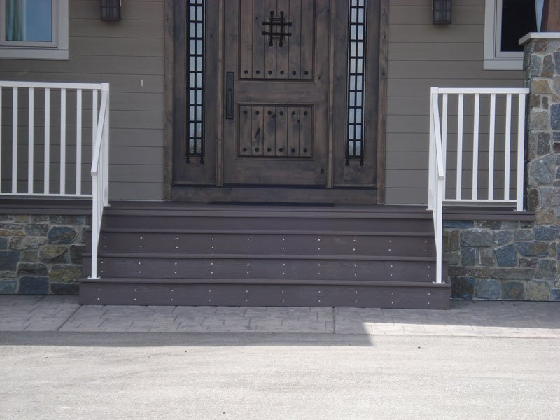 Dark Brown Vinyl Stairs | Mountain View Sun Decks