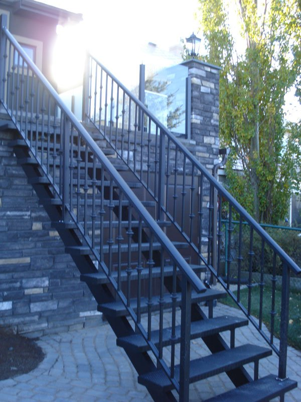 Black Metal Stairs | Mountain View Sun Decks