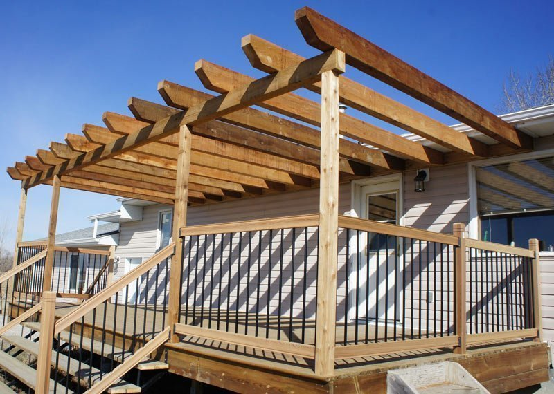 Wooden Sun Deck With Aluminum Wood Combination | Mountain View Sun Decks