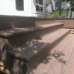 Vinyl Wooden Style Staires | Mountain View Sun Decks