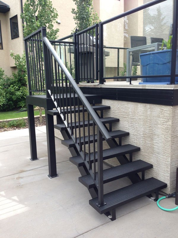 Metal Black Stairs | Mountain View Sun Decks