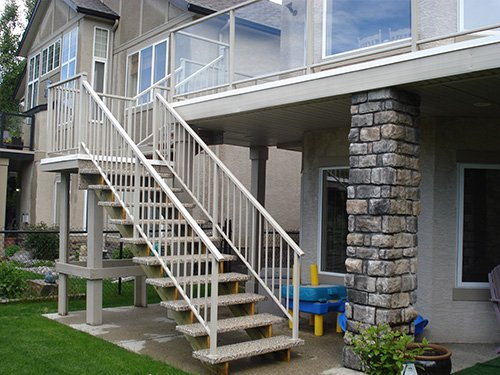Vinyl Stone Stairs | Mountain View Sun Decks