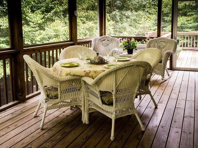 Three Deck Considerations | Deck With Wicker Deck Furniture | Mountain View Sun Decks Ltd. | Calgary, Alberta